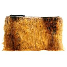ASOS Faux Fur Clutch Bag (£27) ❤ liked on Polyvore featuring bags, handbags, clutches, purses, asos clutches, asos, brown hand bags, brown purse and asos handbags