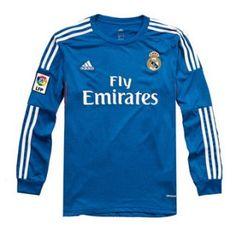 Nueva Camiseta del Real Madrid Manga Larga Segunda 2013-2014 Real Madrid f0433cad1c4d0