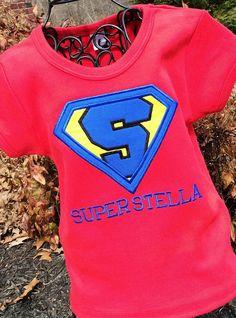 Girls Super Hero Birthday Shirt on Etsy, $18.50