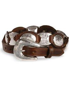 693686f304fc Tony Lama Concho Link Leather Belt