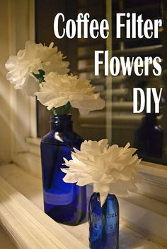 DIY coffee filter flowers via clumsybutbalanced!