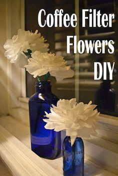 DIY coffee filter flowers via clumsybutbalanced!