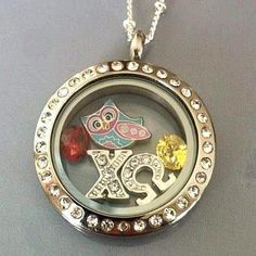 My roommate freshman year was a Chi Omega! What sorority are you in?! Represent with a locket including any Greek letters!