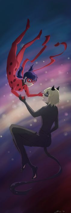"""dahliycia: """"First digital piece since forever! So in love with Ladybug… """" Sooo beautiful!"""