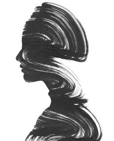 Norwegian visual artist Andreas Lie blurs the boundary between the beautiful wil. - Art for The World Black Background Wallpaper, Dark Art Drawings, Psy Art, Tinta China, Black And White Painting, Learn Art, Marker Art, Crayon, Art Sketchbook