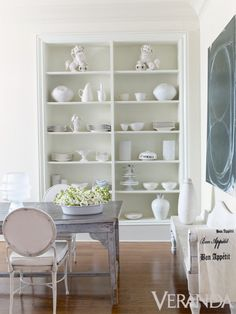 A collection of white ceramics.