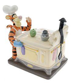 TIGGER BAKING LE COOKIE JAR Disney Winnie the Pooh