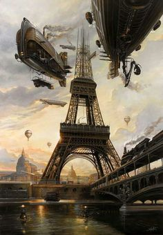 Steampunk Paris By Didier Graffet