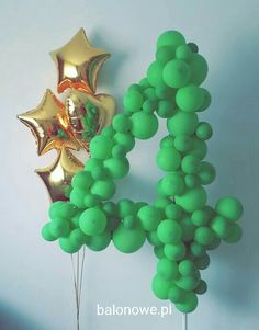 Giand bubble balloons number. Happy birthday!