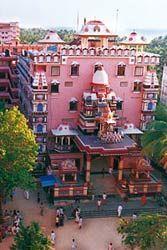 Amma's ashram in India.  Located in Kerala India in the small fishing village Parayakadavu on the Arabian Sea coast of Kerala