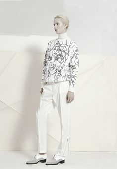 One of the looks from the collection with  the artist Gary Hume Photo: Stella McCartney