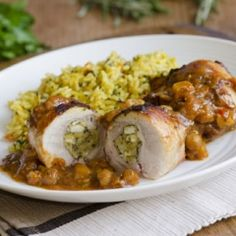 Chicken Roulades Stuffed with Prosciutto and Apples | The Daily Meal