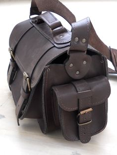 Leather Camera Bag medium by BlueDrop on Etsy