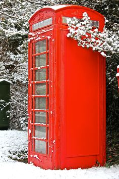 Red telephone boxes - I heard they were getting rid of these in Britain--or was it the red doubledecker buses?