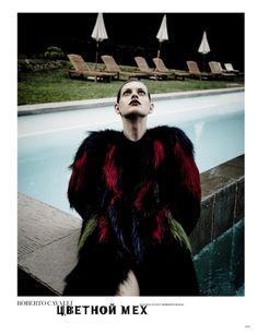 Mia Temirova & Claudia Anticevic for Harper's Bazaar Russia September 2013 | The Fashionography