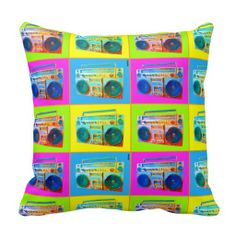 Boomhol Pillow      #oldschool #retro #home #reversible #zazzle