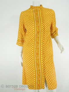 Vintage Yellow Paisley Quilted Cotton Robe by BeeDeeVintage, sold.