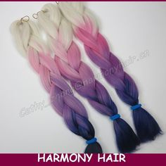 Free Shipping! (4 pieces) Harmony Stock ombre synthetic braiding ...