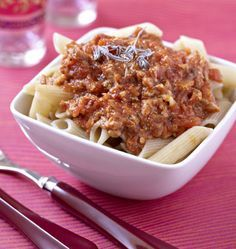Pennes au thon, curry et tomates - les meilleures recettes de cuisine d'Ôdélices