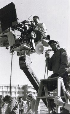 Spike Lee on the set of School Daze