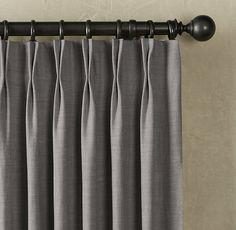 Heavyweight Textured Belgian Linen Drapery | Drapery | Restoration Hardware