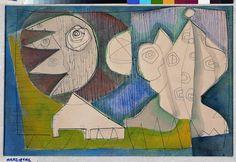 William Baziotes Figures Against the Sun