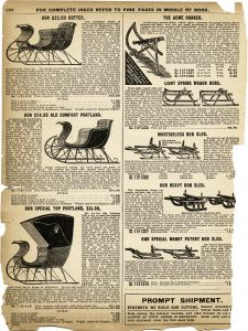 Horse Drawn Sleighs (Cutters) Tattered Catalogue Page ~ Free Vintage Graphics