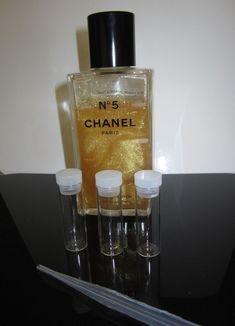 71113c84575 CHANEL N°5 Gold Fragments Sparkling Perfume Body Gel TRAVEL SIZE VIAL 5 10  15 ML