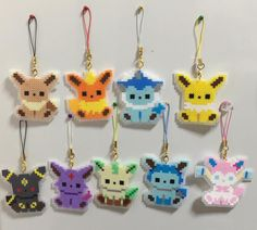 Wow these are cute and cool Umbreon Pokemon, Pyssla Pokemon, Pokemon Perler Beads, Diy Perler Beads, Perler Bead Art, Eevee Evolutions, Melty Bead Patterns, Pearler Bead Patterns, Perler Patterns