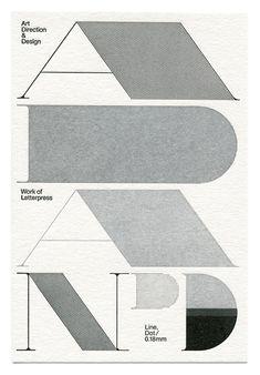 Art Direction & Design, Work of Letterpress, Line, Dot / 0.18mm