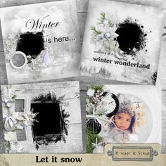 Let it snow - qp with mask by Black Lady Designs