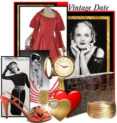 """Vintage Date"" by lindacaricofe on Polyvore"