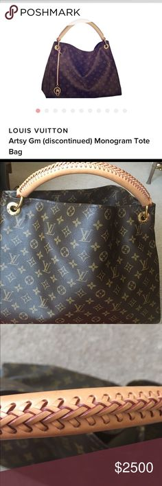 NO TRADINGLOIUS VUITTON ARTSY GM This bag has been used once and since has been sitting in my closet!! I do not know where to find date code on this bag!! There is no sign of wear on this bag anywhere... Inside is just like new when purchased!!  I purchased this bag at Bloomingdales.... As you see from the first photo, it has been discontinued!!!! It is missing the key ring that hangs in front of the bag.. Comes with original Dust bag !! Louis Vuitton Bags Satchels