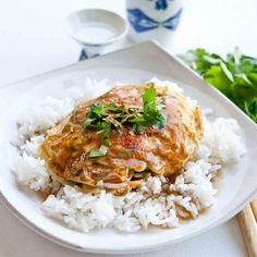 egg foo young!  use 8 eggs not 6// whisk eggs and then mix into your veggie mixture and pour little spoonfuls into sizzling oil... YUM!!!