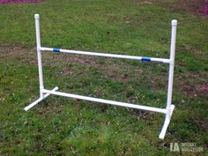 Make a Jump Bar or Hurdle for Agility, instructions included