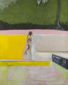 Figure by a Pool Peter Doig 2008-2012 Oil and distemper on linen 250 x 200 cm Collection of Helen and Charles Schwab Photo Thomas Mueller