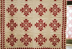 Infinite Variety, Three Centuries of Red and White Quilts -- use #AccuQuilt dies to cut the shapes to replicate this quilt at www.accuquilt.com!