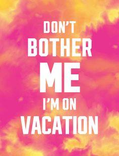 no me molestes que estoy de vacaciones