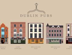 We love this Dublin Pubs illustration! What's your favourite spot!? #lovedublin #dublinpubs