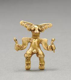 Figurine Pendant, c. 1000-1550                                                Western Panama, or Diquís, Costa Rica, Veraguas-Gran Chiriquí or Diquís Style, 11th-16th century