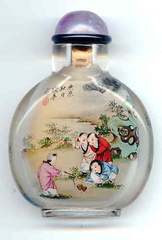 """I collect these antique asian """"snuff"""" bottles....not because of what they were originally used for, but because they are each unique, hand painted, and just gorgeous."""