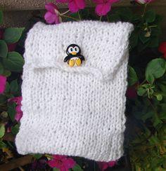 Penguin Power GPSr Cozy by SocksKnitPalace on Etsy, $10.25