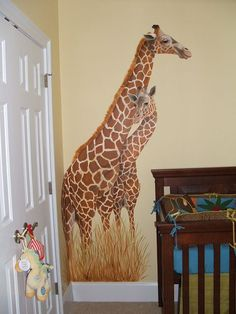 Mother & Baby Giraffe - Mural Idea in Columbia SC
