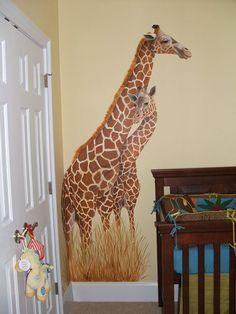 Mother & Baby Giraffe - Mural Idea in Columbia SC