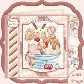 ICE MICE SUNDAE 8x8 Decoupage Kit