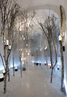 Winter Forest, pinned by Ton van der Veer Stage Design, Event Design, Deco Design, Design Art, Winter Forest, Retail Architecture, Decoration Vitrine, Christmas Window Display, Deco Originale
