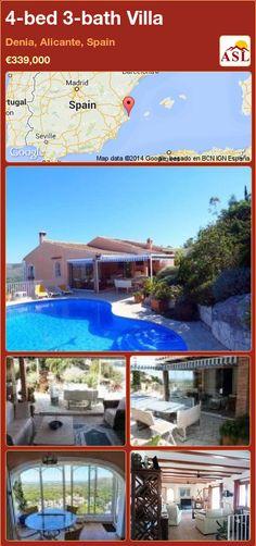 4-bed 3-bath Villa in Denia, Alicante, Spain ►€339,000 #PropertyForSaleInSpain