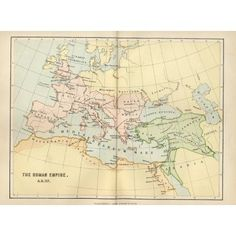Map Of The Roman Empire In Ad 117 From The National Encyclopaedia Published By William Mackenzie London Late 19Th Century Canvas Art - Ken Welsh Design Pics (17 x 12)