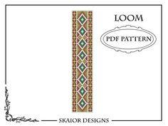 Loom Beading Pattern Loom Bracelet Tribal Geometric Seed by skaior, $5.00