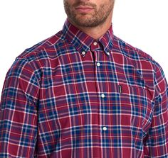 Smart Casual Outfit, Casual Outfits, Men Casual, Button Down Collar, Woven Cotton, Barbour, Casual Shirts, Label, Pocket